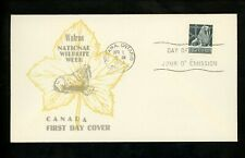 Postal History Canada FDC #335 Unknown Wildlife Walrus 1954 Ottawa ON
