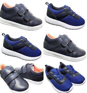 Kids Hugo Boss Trainers New Infants 2-Strap Boys Elastic Lace Shoe Sale Size 5-9