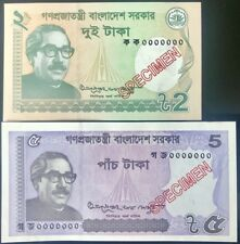 Bangladesh Set 2 Pcs; 2 5 Taka 2017 Specimen P New Sign