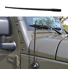 Radio Antenna Mast Fits For Jeep Wrangler JK JKU JL 2007-2018 Rugged Ridge Black