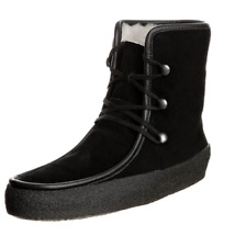 NEW CLARKS JEZ CUTE BLACK SUEDE LEATHER BOOTS UK SIZE 3.5D