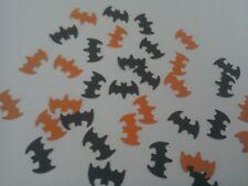100 black & orange bat birthday, Halloween, batman table confetti. Crafts