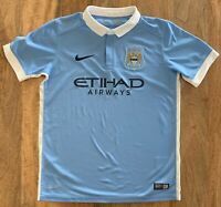 Manchester City FC Nike Football Jersey Soccer Shirt 2015 Youth Medium