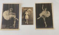 3 Antique Vintage Studio Photo - 2 Qty 6x9,  1 Qty 4x6 Ballerina Dancer 1920's