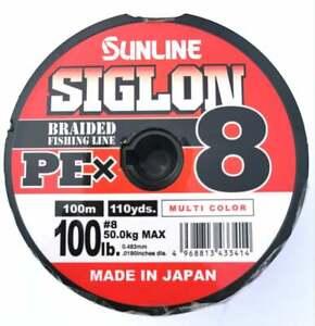 Sunline siglon X8,100lb-100m/200m/300m/400m/500m