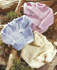 BABY CHILDRENS CHUNKY CARDIGANS & SWEATER KNITTING PATTERN 22/34 INCH (781)