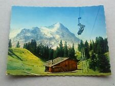 VINTAGE SWISS SMALL COLOUR PHOTOGRAPH BERGBAHN GRINDELWALD FIRST AND THE EIGER