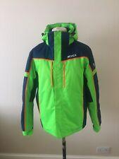 Mens Nevica Jacket Size M Green/Blue Hood Waterproof 5K Ski Jacket New
