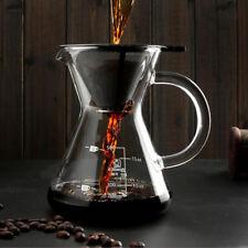 Kaffeebereiter Pour Over von Coffee feles. Kaffeekanne mit Dauerfilter 500 ml