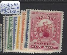 PERU  (P0804B) SC 131-140  SPECIMEN   MNH