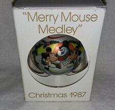 "Vintage 1987 Disney Merry Mouse Medley Mickey Minnie Christmas Ornament ""Schmid"""