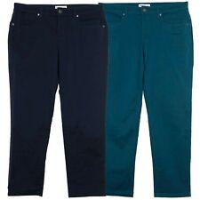 Sheego Sergé Jeans Die Schmale Slim Fit Pantalon Femmes Stretch Taille Courte 20