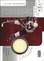 2001-02 (HKY) UD Top Shelf Sticks #SPF Peter Forsberg