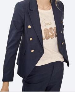 Mos Mosh Navy Beliz Twiggy Blazer Size 38 (10) NWT