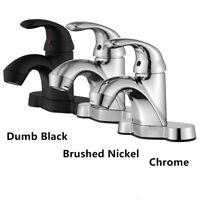 Bathroom Basin Sink Faucet Lavatory Vanity 4'' Single Handle 3 Holes Mixer Tap