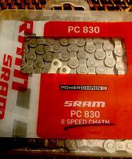 SRAM PC 830 BICYCLE BIKE STEP RIVETING 1/2X3/32 CHAIN 7/8 Speed New