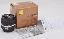 Nikon Nikkor 28mm f/2.8 Ai-S Manual Focus W/A Lens MF F2.8 W/A Lens - Brand New