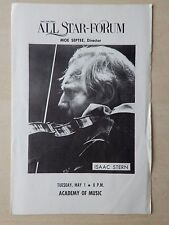 Academy Of Music Theatre Playbill - Isaac Stern