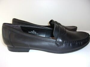 Footglove size 6.5 black leather loafer shoes from Marks and Spencer.