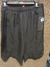 "LAYER 8~Black ""The Endeavor"" QWIK DRY ATHLETIC SHORTS~Men's Small~NWT"