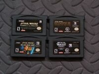 Lot Nintendo Game Boy Advance GBA Games Star Wars - 4 games