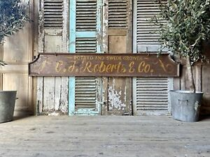Vintage Double Sided Wooden Sign