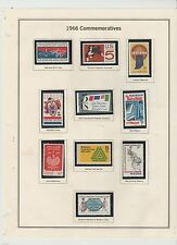 U.S. 1966 Commemorative Year Set, 17 items (3 scans) Complete, mNH Fine