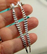 6229ace26 Tiffany & Co Vintage Long SNAKE ELSA PERETTI Sterling Silver Pierced  Earrings