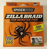 300 YDS 20Lb SPIDERWIRE ZILLA BRAID MOSS GREEN FISHING LINE 20 LB