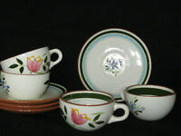 Vintage Stangl Country Garden Pottery - 4  Cups and Sauces - EUC