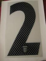 Big no 2 England Home Football Shirt Name Set Rear Number Navy Sporting ID