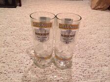 Smirnoff Vodka Recycled Glass Tumbler Set Of 2 ,, One Liter Size