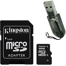 Kingston Micro SD SDHC MicroSDHC Card TF 16GB Class 4 + R2