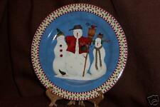 Christmas Collectable Debbie Mumm Snowman Plates