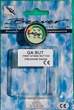 SCUBA pressure gauge  Beaver stainless steel button mini ideal for pony bottle