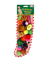 17 piece CAT STOCKING Lattic Ball Glitter Pom Rattle Mice Hard to Find Cat Toys