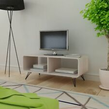 TV Entertainment Unit Cabinet Stand Coffee Table MDF Steel 90cm Lowline Grey