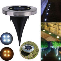 Solar 4 LED Outdoor Path Light Spot Lamp Yard Garden Lawn Landscape Waterproof