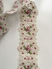 Lace Trim Embroidered Polyester 5 cm Wide/ 1 yard