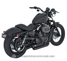 Finale di scarico ShortShots Straggered Black Vance&Hines 2 in 2 Sportster