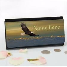 Personalised Soaring Eagle Bird Large Ladies Money Coin Purse Mum Gift SH076