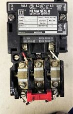 Square D 8536SBO-2 Motor starter contactor 3PH 120V. Used. 8536SBO2