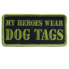 My Heroes Wear Dog Tags 4 INCH  pow mia MC BIKER PATCH