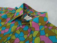 "DOLCE & GABBANA Mens Shirt 🌍 Size 36/50 (44"" CHEST) 🌎RRP £295+📮 FUNKY VIBRANT"