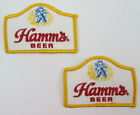 TWO Hamms Beer Patches 3 1/4 x 2 1/4 Sew On vintage Breweriana Sealed Back NOS