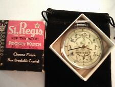 1960s Ingraham Pocket Watch Babe Ruth & Mm Rm Theme Dial & Case Runs Well.