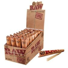 3 Packs X 6 = 18 Pcs RAW Classic Hemp 1 1/4 size Pre Rolled Cones Rolling Paper