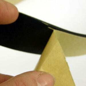 NEOPRENE RUBBER SELF ADHESIVE SPONGE STRIP - 10M LENGTH - 3MM, 4MM THICK