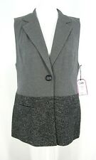 NWT CAbi Vest Womens M Sleeveless Blazer #518 Fall 2013 Gray Black Speckle $98
