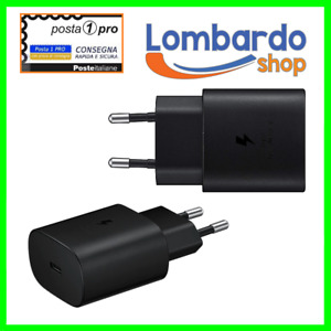 CARICABATTERIE FAST CHARGE ORIGINALE SAMSUNG TIPO-C EP-TA800EBE 25W NUOVO